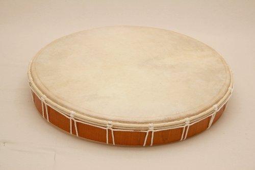 Tamburo a cornice, tamburo sciamanico, in pelle naturale, diametro di 30 cm, battente incluso