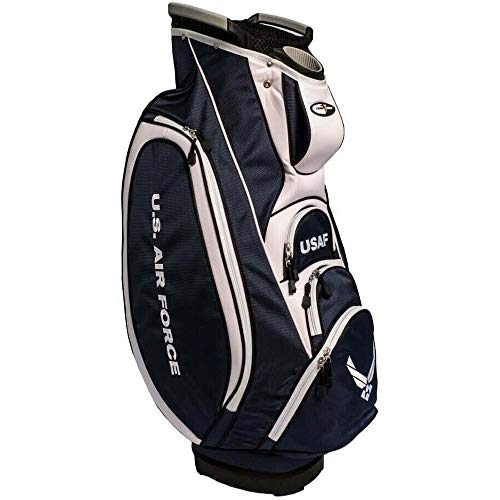 Team Golf Military Air Force Victory Golf Cart Bag, 10-way Top with Integrated Dual Handle & External Putter Well, Cooler Pocket, Padded Strap, Umbrella Holder & Removable Rain Hood