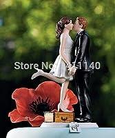 愛の キス結婚式の ケーキ トッパー置物カスタム色利用可能で イベント パーティー用品装飾