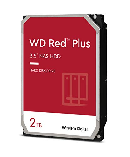 "WD Red WD20EFRX Disco duro 3.5"" para dispositivos NAS 5400 RPM Class 2TB, SATA 6 Gb/s, CMR, 64MB Cache, Rojo"