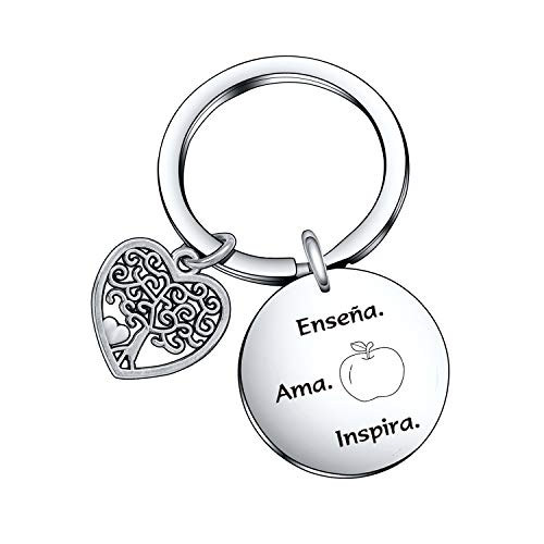 Spanish Teacher Inspiration Keychain