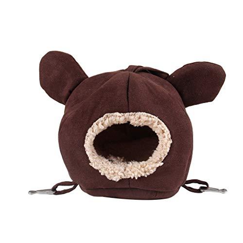 YU-HELLO Linda casa de hámster jaula mascotas animales pequeños chinchillas invierno cálido cama dormir