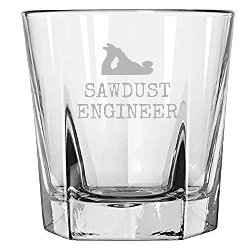 sawdust engineer whiskey glass for carpenters