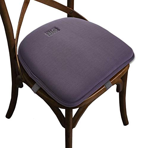 Big Hippo Chair Cushion Memory Foam Seat Pads for Chairs Padded Seat Cushion Chair Pads Cushions with Elastic Bands Non-Slip Seat Pad Cushions Perfect for Home Kitchen Garden Office Car