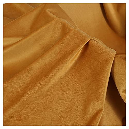 ZSYGFS 150 Cm De Ancho Tela De Terciopelo por Metros para Tapizar Disfraz Decoracin del Hogar Cortinas Tapicera Vestido Sillas Vendido por Metro(Color:Amarillo Jengibre)