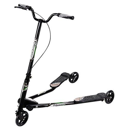 Kids Tri Slider Tretroller mit 3Rädern, faltbar groß Typ für Alter 7+ schwarz schwarz