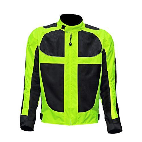 CYzpf Chaqueta de Moto Reflexivo 4 Estaciones Ropa Ligera y Transpirable Equipo Protección Abrigo Informal Motorcycle Jackets Exteriores Accesorios para Hombres Mujeres,2XL
