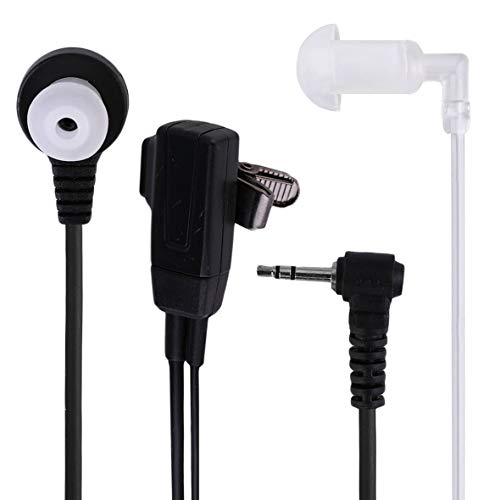 Heaviesk 1 Pin Covert Acoustic Tube Hörer-Headset für Motorola Talkabout 2 Funkgerät Funksprechgerät GP88 GP300 GP308