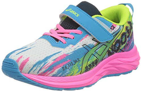Asics Pre Noosa Tri 13 PS, Road Running Shoe, Digital Aqua/Hot Pink, 33.5 EU