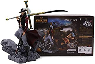 Action & Toy Figures - Styles Anime One Piece Luffy Chopper Dracule Mihawk Going Merry Shanks PVC Action Figure Collectible Model Christmas Gift Toy (Mihawk with box)