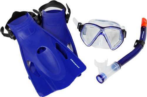 Ultrasport Miami - Set de Snorkel, Color Azul