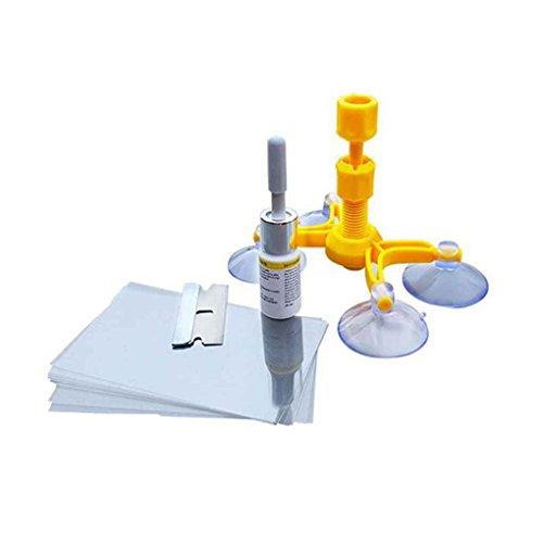 Morza Autoglas-Reparatur Fenster Werkzeug Auto-Windschutzscheiben-Reparatursatz Polier Set Windschutzscheibe Werkzeug-Set Autoglas Glas-Reparatursystem Fix