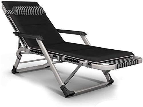 Yuany sillas Sillón de Relax al Aire Libre jardín al Aire Libre Mecedora, Almohadilla de la Silla, Silla de jardín Plegable (Color, Gris),Negro
