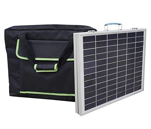 ECO-WORTHY 50W Folding Suitcase Portable Solar Panel 12V Battery Power W/Controller Camp