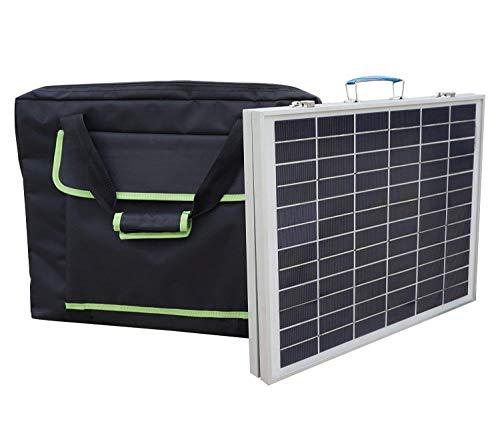 ECO-WORTHY Opvouwbare koffer, draagbaar, zonnepaneel, 12 V, werkt op batterijen, met controller