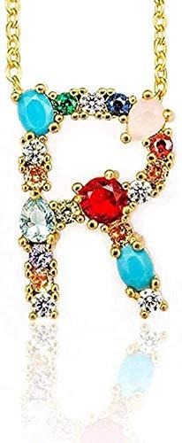 TTDAltd R - Colgante de Collar con Letra Inicial de Bricolaje Exquisito para Mujer con Nombre, Accesorios de joyería, Regalo para Regalos de Novia