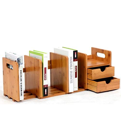 CHSEEA Erweiterbar Schreibtischorganizer Bücherregal Mit Schubladen, Bambus Aufbewahrungsboxen Schreibtisch-Regal Make-up Organizer Ordnungsbox Officebox #2
