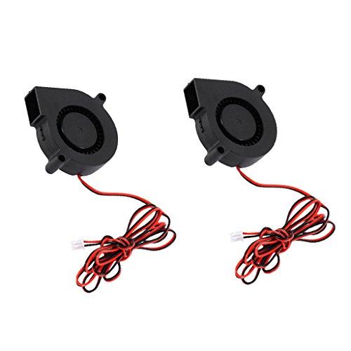 gazechimp 2 Piezas De Silent 24V 50mm 5015 Radial Turbo Cooler Ventilador Ventilador para Impresora 3D