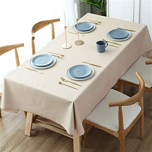 PrittUHU 150 * 600 cm Color sólido Cubierta de Mesa de Mantel Rectangular Cena para la Fiesta de Bodas Decoración de Banquete de la Navidad (Color : Light Yellow, Specification : 150X500cm)