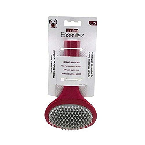 Le Salon Essentials Rubber Slicker Brush, Dog Grooming Brush, Large, 91244