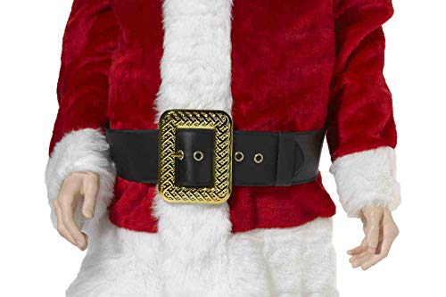 Forum Novelties Men's Deluxe Adult Santa Belt Costume Accessory, Black, One Size
