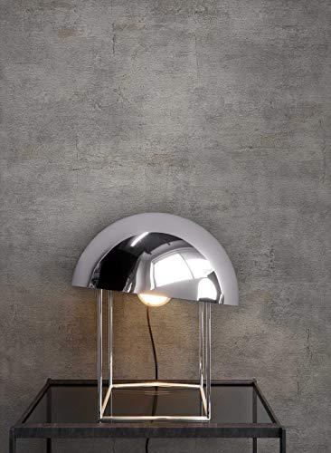 *NEWROOM Tapete Dunkelgrau Putz Beton Uni Vliestapete Vlies moderne Design Optik Tapete Premium inkl. Tapezier Ratgeber*