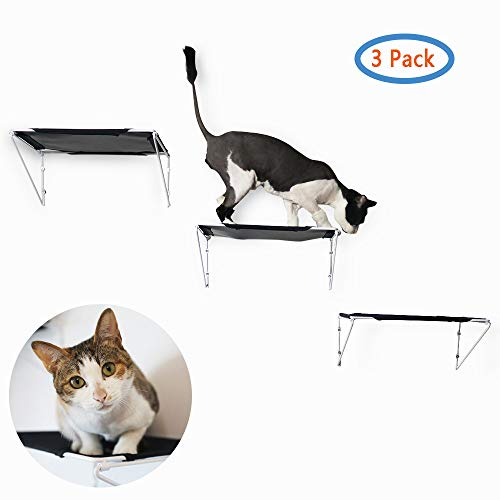 RayCC Cat Shelves Cat Steps Cat Perch Cat Cloud Cat Bed Wall-Mounted Cat Furniture Great for Cat Climbing (Set of 3)
