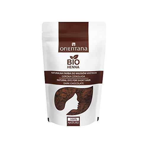 Orientana - BIO HENNA für kurzes Haar - Bitterschokolade - 100% vegan - 100% aus Kräutern - eine dauerhafte Haarfarbe - die dem Haar Fülle verleiht, 50 g