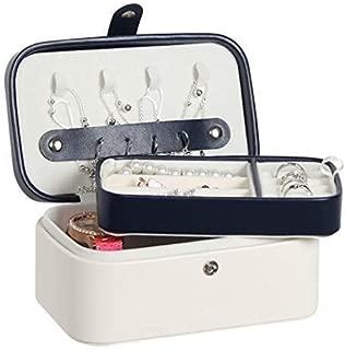 European Jewelry Box Multilayer Portable Jewelry Storage Box Creative Four Leaf Jewelry Box (Color : White)
