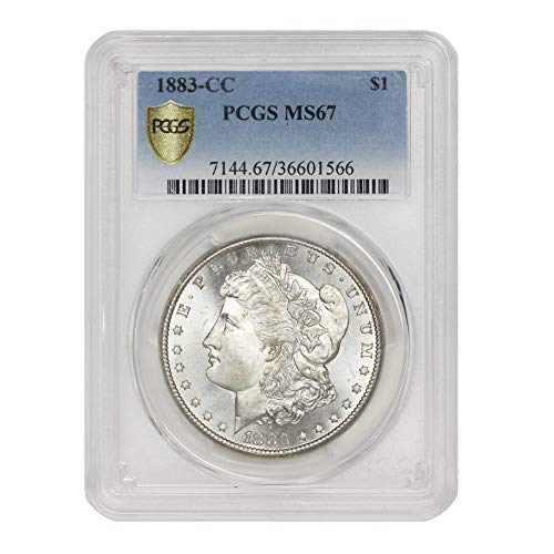 1883 CC American Silver Morgan Dollar MS-67 by CoinFolio $1 MS67 PCGS