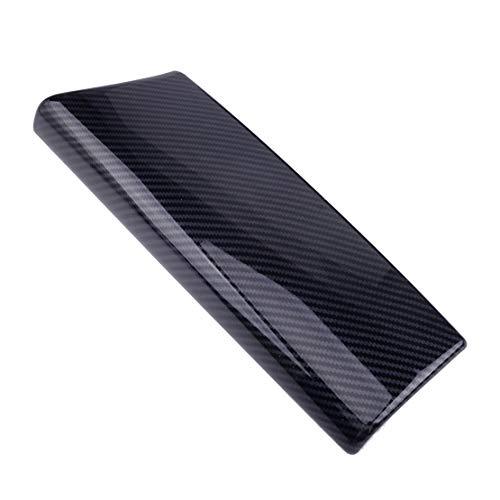 ZhengELE Centro de Fibra de Carbono Negro Estilo Coche de plástico Consola Apoyabrazos Estiba Cubierta 33.4x11 Cm Fit for Mercedes Benz Clase C GLC-Clase