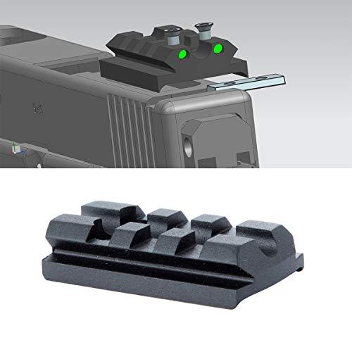 TuFok Sight Mount Plate for Glock - G17 19 22 23 26 27 34 Rail for Install Pistol Red Dot Sight(3-Slot)