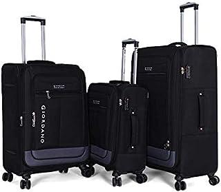 جيوردانو حقائب سفر بعجلات للجنسين 3 قطع ، اسود ، 7422