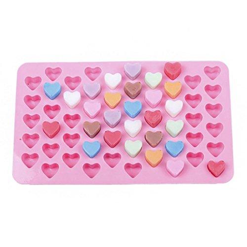 55 Mini Coeur Silicone moulessilicone, BZLine Anti-adhésif Moules à Gâteau Cupcake Muffin Chocolat moulessilicone gateaux