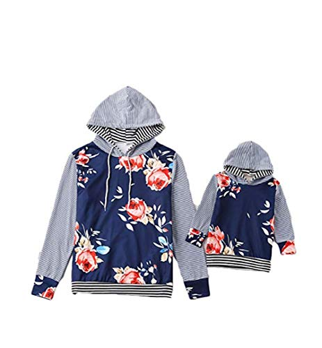 CHRONSTYLE Mama Tochter Partnerlook, Langarmshirt Damen Baby Kleidung Mädchen Sweatshirt Mädchen Hoodie Damen Familien Kleidung Matching Outfits Mother Daughter Mutter Kleid (Mutter, S)