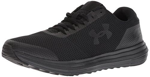 Under Armour Men's Surge Running Shoe, Black (006)/Black, 12