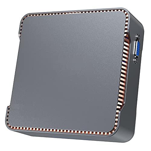 Mini PC, NiPoGi Celeron N3350 8GB RAM + 128GB ROM Windows 10 PRO Mini Desktop Computer, Dual WiFi 2.4/5G, 1000 Mbps LAN, BT 4.2, 4K HD for Business e Entertainment Micro PC