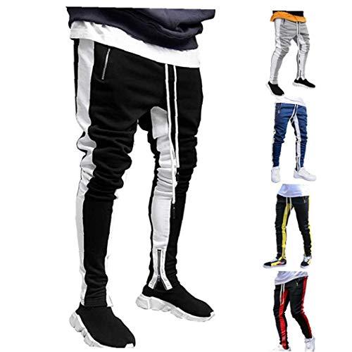xiaocheng Pantalones Gimnasio Sport Hip Hop Slim Fit Track Pantalones de Entrenamiento...