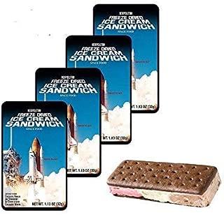 Astronaut Foods Freeze Dried Ice Cream Neapolitan Sandwich 4 Pack