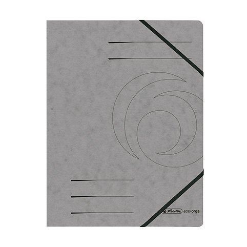 Herlitz Eckspanner A4 Colorspan, 355 g/qm, 10er Packung | Farbe wählbar (10, Grau)