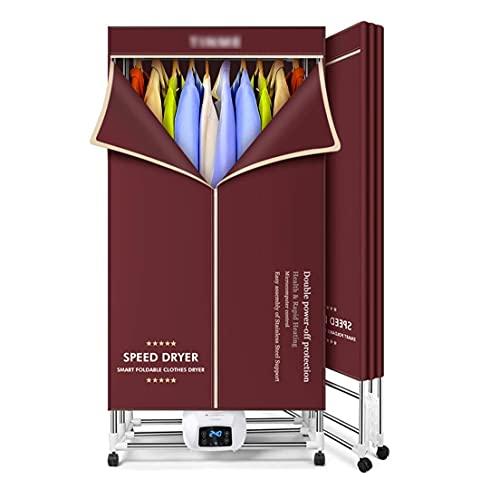 WGFGXQ Secadora de Ropa Plegable Independiente Secadora de Ropa con Control de Temperatura de Tres velocidades Secadora de Ropa de Secado rápido para el hogar Secadora de Gran Capacidad 562L (Color