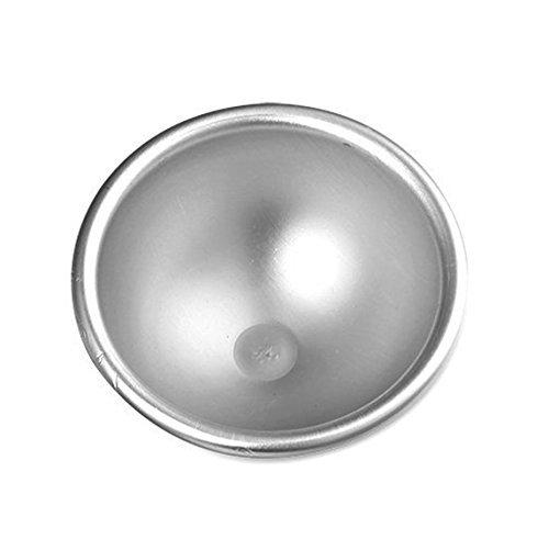 Windspeed 3D Aluminum Sphere Ellipsoid Cake Mold Bath Bomb Molds, Cake Pan Tin Baking Pastry Ball Mould (2.61.2inch)