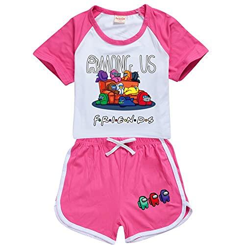 JDSWAN Niños Conjunto Impresión de Letras de Patrones Camiseta y Pantalones 2...