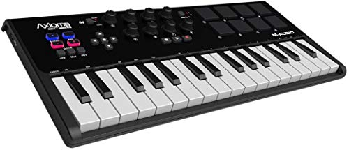 M-Audio Axiom AIR Mini 32 - Kompakter MIDI USB Keyboard, Pad Controller + ProTools | First M-Audio Edition, Eleven Lite, Ableton Live Lite und AIR Music Tech - Xpand!2