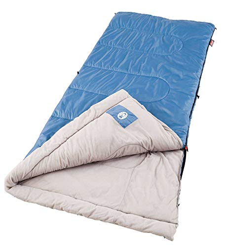 Coleman Sun Ridge 40°F Warm Weather Sleeping Bag, Blue