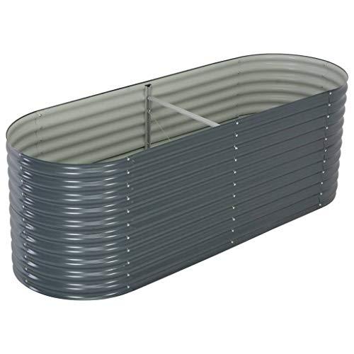 vidaXL -   Hochbeet Stahl Grau