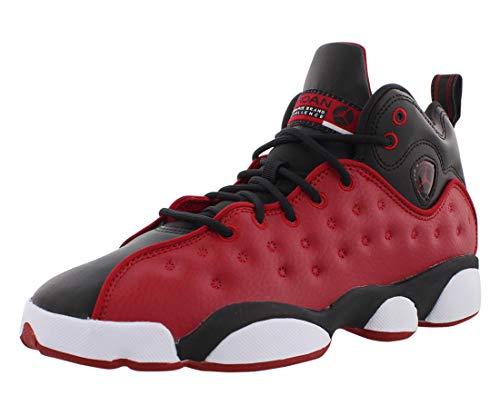red and black jordans - 1