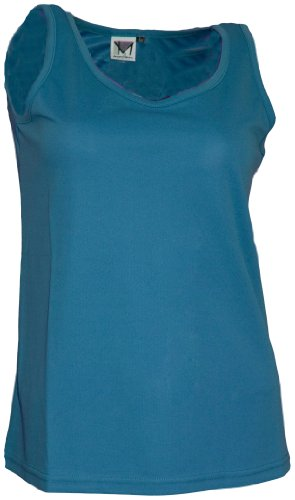 Maier Sports Femme Top Andrea Turquoise Bleu Taille 40