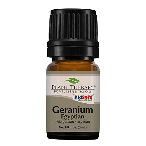 Plant Therapy Geranium Egyptian Essential Oil | 100% Pure, Undiluted, Natural Aromatherapy | 5 mL