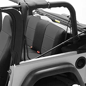 Black Coverking Custom Fit Tactical Seat Package for Select Jeep Wrangler Models